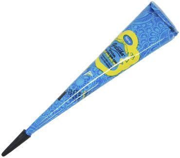 Синяя хна для тату в конусе Golecha