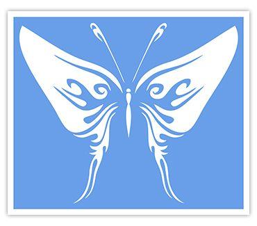 Трафарет для тату и мехенди хной Трафарет бабочка № 1