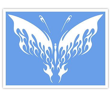 Трафарет для тату и мехенди хной Трафарет бабочка № 13