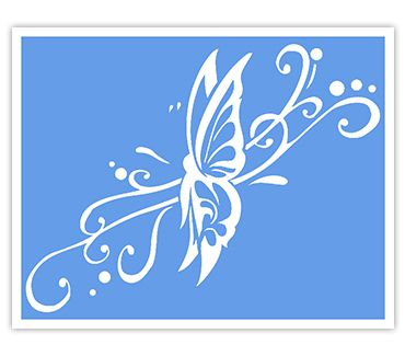 Трафарет для тату и мехенди хной Трафарет бабочка № 18