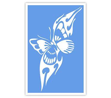 Трафарет для тату и мехенди хной Трафарет бабочка № 20