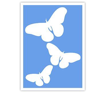 Трафарет для тату и мехенди хной Трафарет бабочка № 5