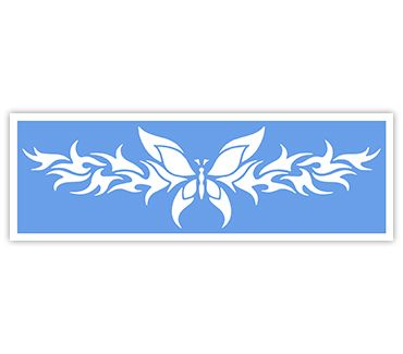 Трафарет для тату и мехенди хной Трафарет бабочка № 7