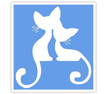 Трафарет для тату и мехенди хной Кошка № 13
