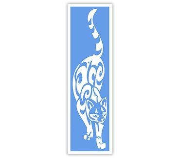 Трафарет для тату и мехенди хной Кошка № 15