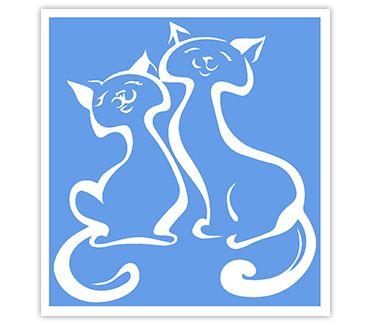 Трафарет для тату и мехенди хной Кошка № 16