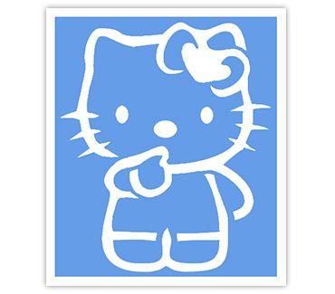 Трафарет для тату и мехенди хной Кошка № 36