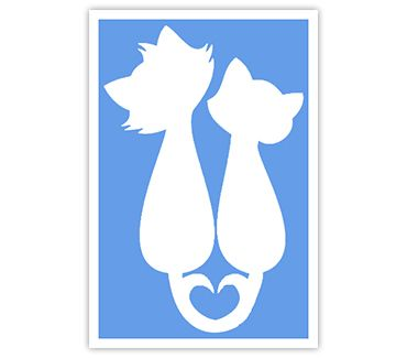Трафарет для тату и мехенди хной Кошка № 43