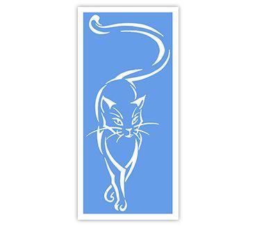 Трафарет для тату и мехенди хной Кошка № 46
