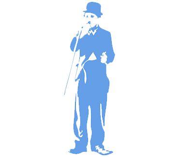 трафарет для тату и мехенди Трафарет: Чарли Чаплин
