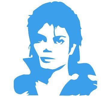 трафарет для тату и мехенди Трафарет: Майкл Джексон № 1