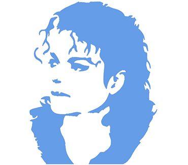 трафарет для тату и мехенди Трафарет: Майкл Джексон № 2