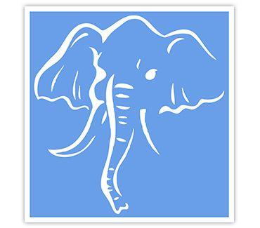 Трафарет для тату Слон № 1