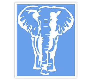 Трафарет для тату Слон № 2