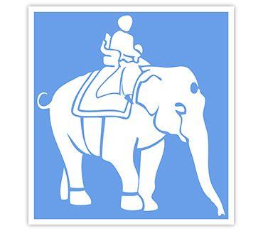 Трафарет для тату Слон № 4