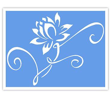 Трафарет для тату и мехенди хной Цветок № 15
