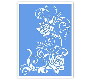 Трафарет для тату и мехенди хной Цветок № 18
