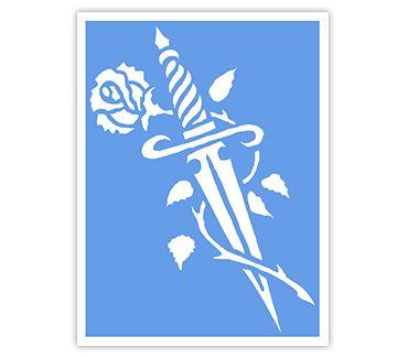 Трафарет для тату и мехенди хной Трафарет цветок № 19