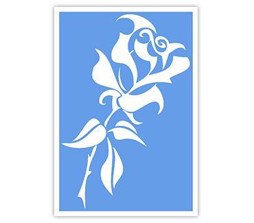 Трафарет для тату и мехенди хной Цветок № 21