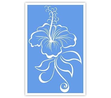Трафарет для тату и мехенди хной Цветок № 22
