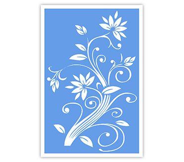 Трафарет для тату и мехенди хной Цветок № 23