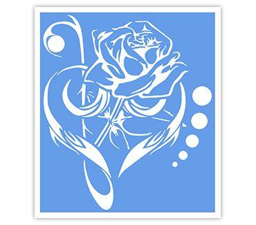 Трафарет для тату и мехенди хной Цветок № 26