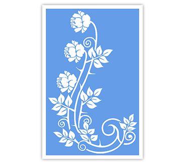 Трафарет для тату и мехенди хной Цветок № 28