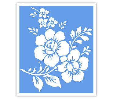 Трафарет для тату и мехенди хной Цветок № 31