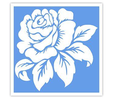 Трафарет для тату и мехенди хной Трафарет цветок № 33