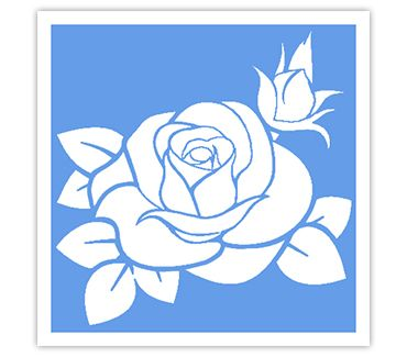 Трафарет для тату и мехенди хной Трафарет цветок № 34