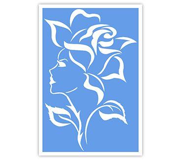 Трафарет для тату и мехенди хной Цветок № 36