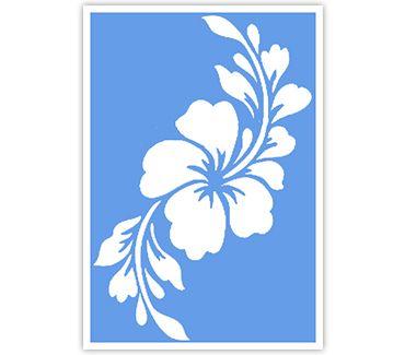 Трафарет для тату и мехенди хной Трафарет цветок № 37