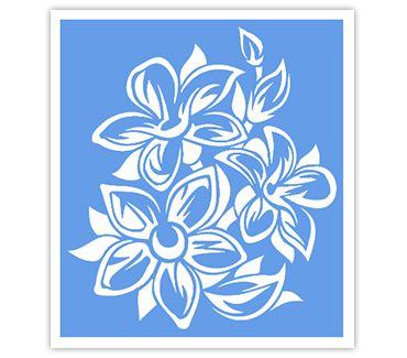 Трафарет для тату и мехенди хной Трафарет цветок № 39