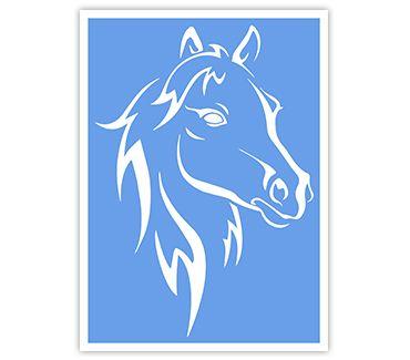 трафарет для тату и мехенди Лошадь № 7