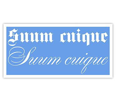 Трафарет для тату Каждому свое (фр.) № 18