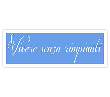Трафарет для тату Жить без сожалений (ит.) № 19