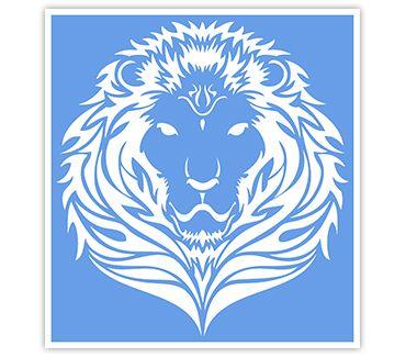 трафарет для тату и мехенди Тигры и Львы № 13