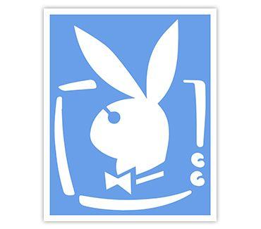 трафарет для тату и мехенди Playboy № 7