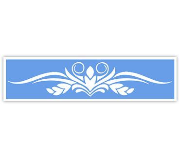 трафарет для тату и мехенди Трафарет на крестец № 1