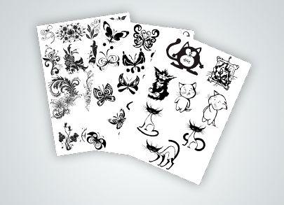 Эскизы с рисунками для удобства тату