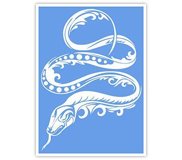 трафарет для тату и мехенди Змея № 11