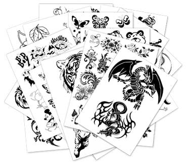 Эскизы для татуировок (150 листов)