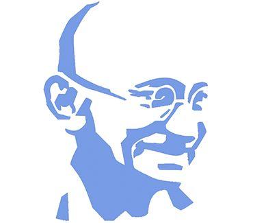 трафарет для тату и мехенди Трафарет: Махатма Ганди