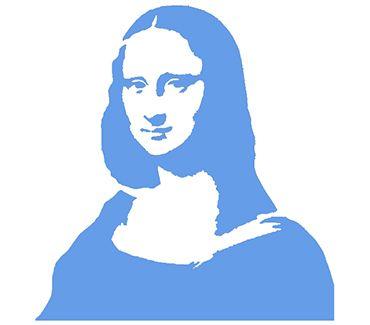 трафарет для тату и мехенди Трафарет: Мона Лиза