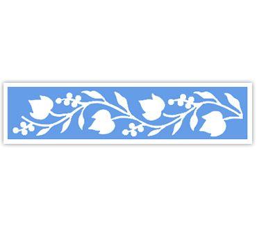 Трафарет для тату и мехенди хной Цветок № 42
