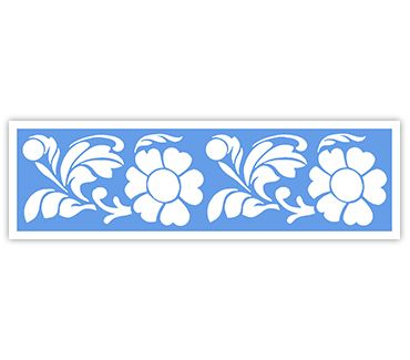 Трафарет для тату и мехенди хной Трафарет цветок № 43