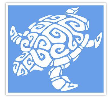 Трафарет для тату Черепаха № 4