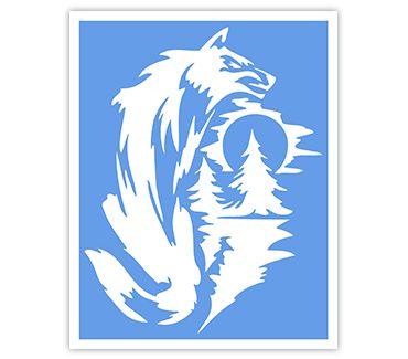 Трафарет для тату Волк № 13