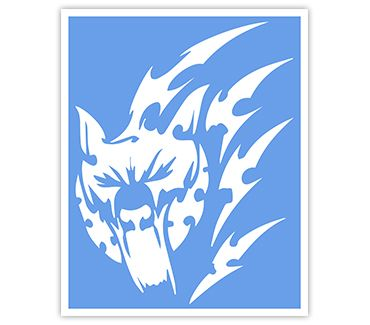 Трафарет для тату Волк № 16