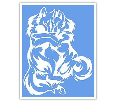 Трафарет для тату Волк № 17